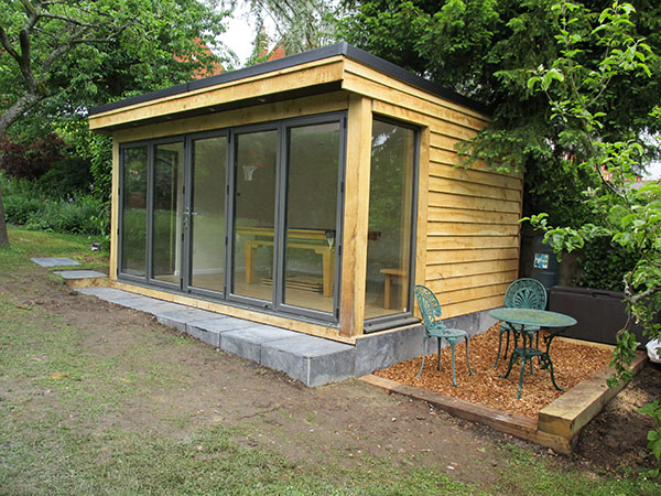 Oak framed buildings bathstone garden rooms for Oak framed garden room