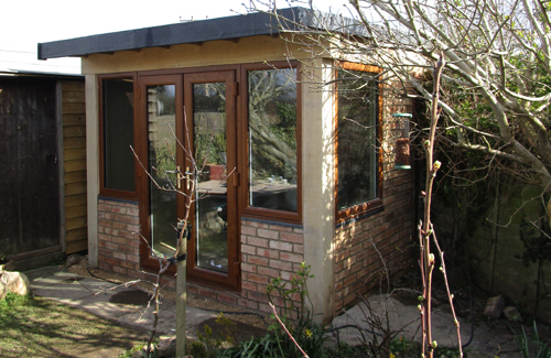 oak framed brick garden room